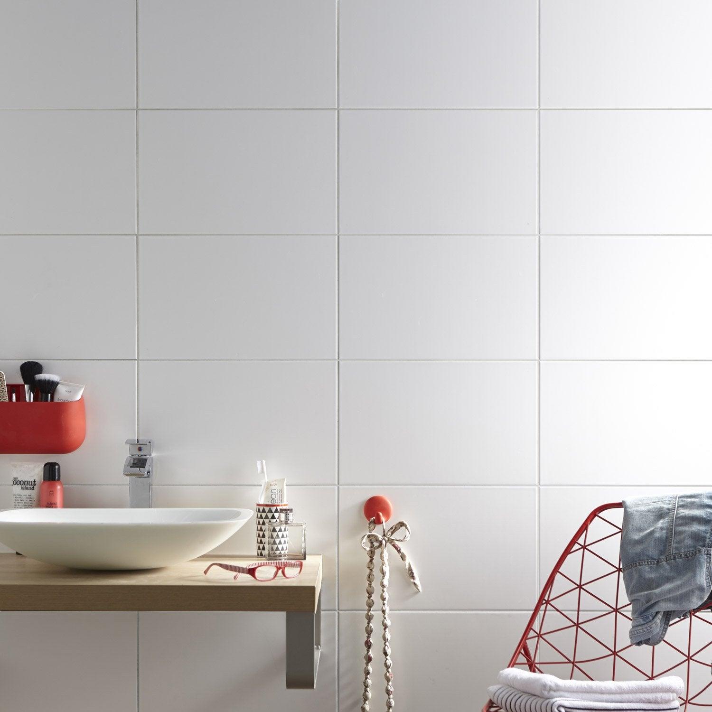 Faïence mur blanc, Basic mat l.25 x L.40 cm | Leroy Merlin