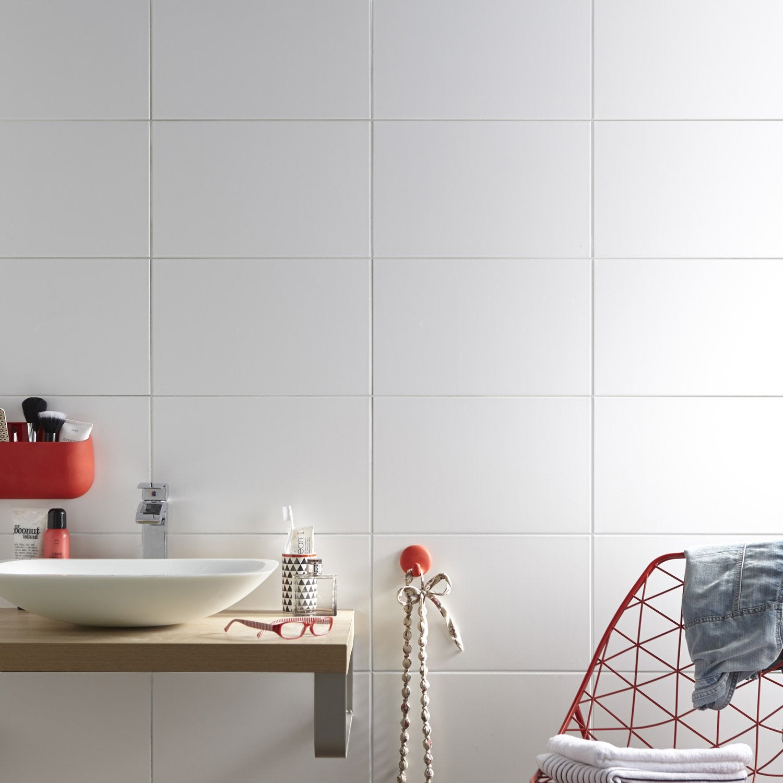 Genial Faïence Mur Blanc Mat L.25 X L.40 Cm, Basic