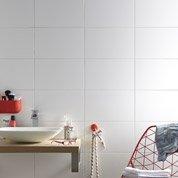 Faïence mur blanc, Basic mat l.25 x L.40 cm