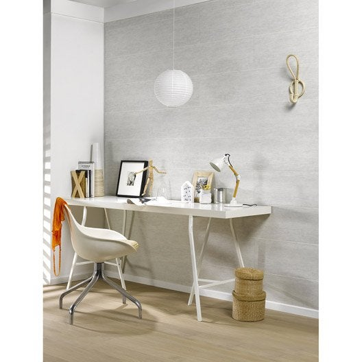 lambris pvc gris textur dumaplast dumaclip x cm x mm leroy merlin. Black Bedroom Furniture Sets. Home Design Ideas