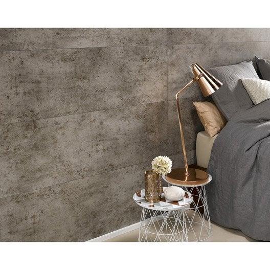 dalle murale pvc ciment gris dumaplast dumawall x l. Black Bedroom Furniture Sets. Home Design Ideas