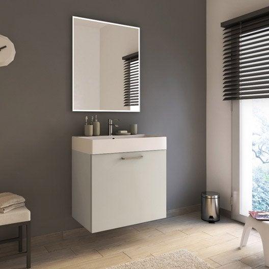 Meuble de salle de bains de 60 à 79, blanc / beige / naturels, Neo line