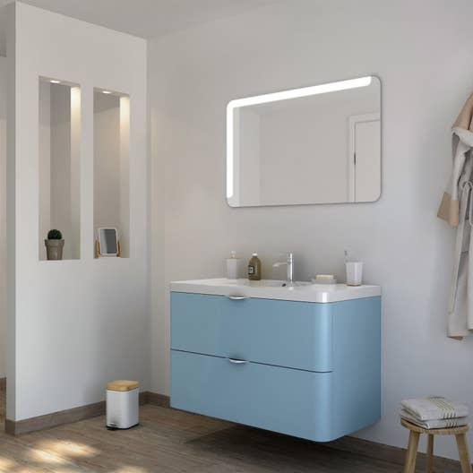 Meuble de salle de bains de 100 119 bleu neo shine for Meuble salle bain bleu