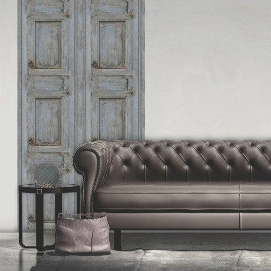 papier peint intiss moulure porte bleu leroy merlin. Black Bedroom Furniture Sets. Home Design Ideas