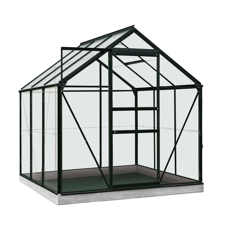 serre de jardin en polycarbonate simple paroi rainbow noir m leroy merlin. Black Bedroom Furniture Sets. Home Design Ideas