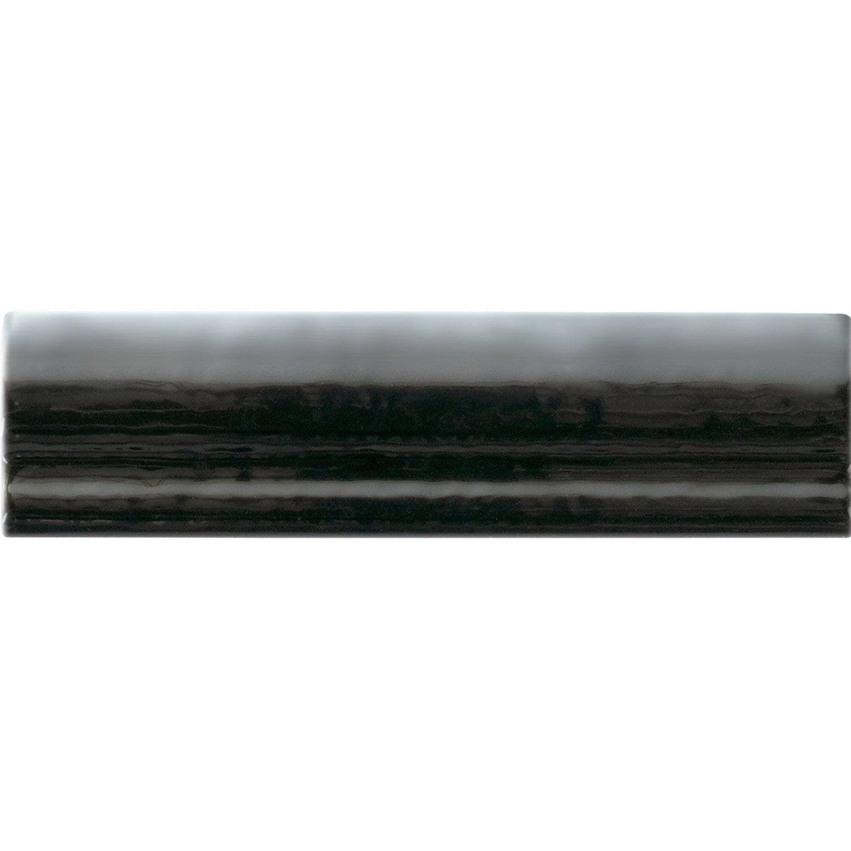 Lot de 7 listels moulure district noir l 4 x cm for Listel carrelage metro