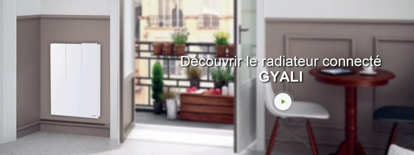 radiateur lectrique connect inertie pierre sauter gyali 1000 w leroy merlin. Black Bedroom Furniture Sets. Home Design Ideas