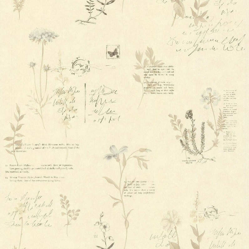 Papier Peint Botanique Beige Papier Cuisine Et Bain Leroy Merlin