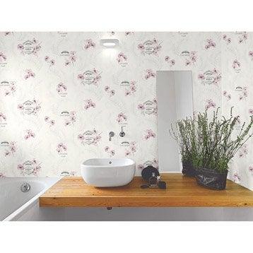 Papier peint tapisserie papier peint intiss et vinyle for Papier peint cuisine gris