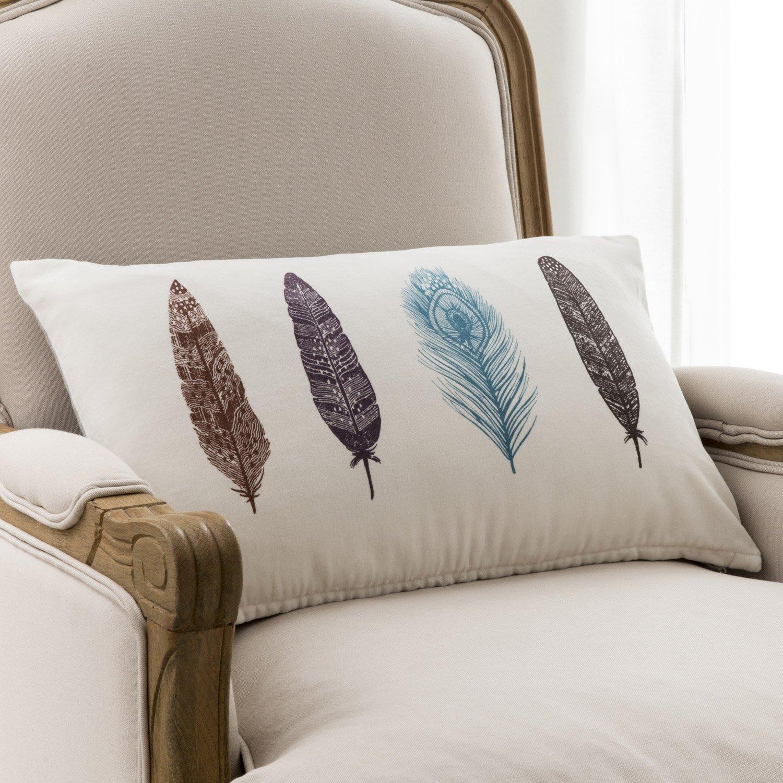 Canapé Multi Couleur en ce qui concerne coussin plumes, multicouleur l.50 x h.30 cm | leroy merlin