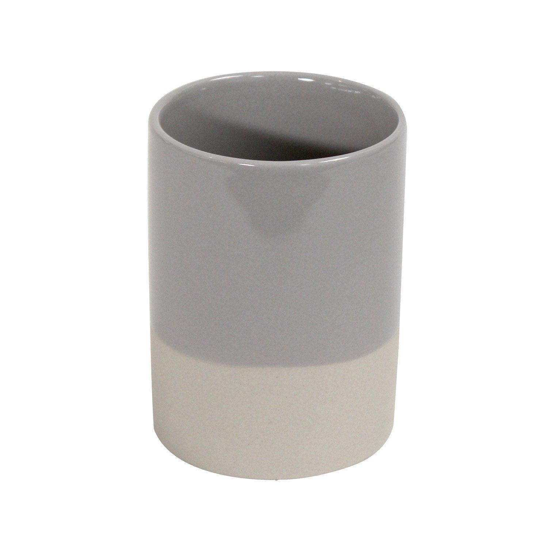 Gobelet céramique Tania, beige et gris