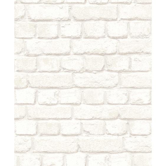 papier peint intiss brique 3d blanc leroy merlin. Black Bedroom Furniture Sets. Home Design Ideas