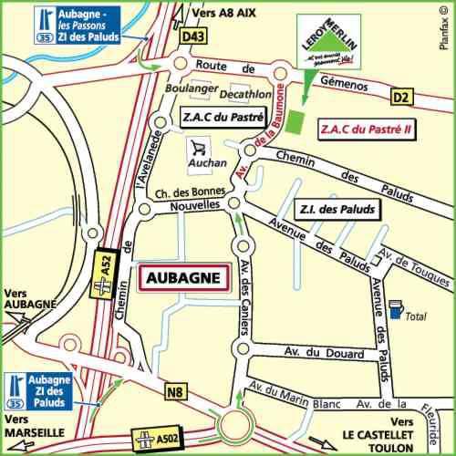 Plan d'accès au magasin Leroy Merlin de Toulon (la valette-du-var)