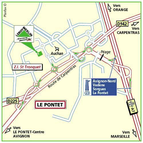 Plan d'accès au magasin Leroy Merlin de Marseille (grand littoral)