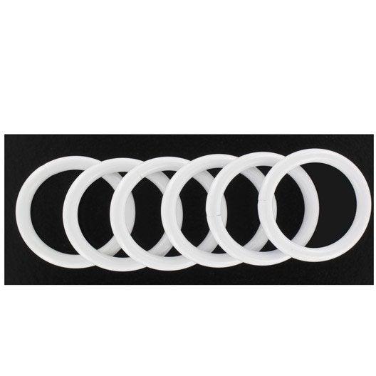 Anneaux tringle rideau satin 25 mm acier blanc ib leroy merlin - Tringle a rideau cable acier ...