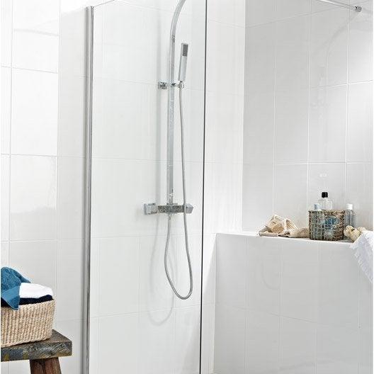 Paroi de douche à l'italienne Open 2 6mm, profilé chromé, l. 88.5