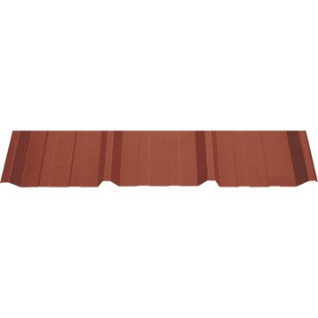 Plaque acier galvanisé Rouge , 1.05 x 2m
