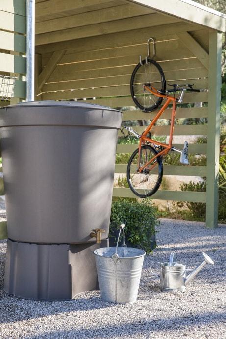 Récupérateur eau de pluie taupe Siena