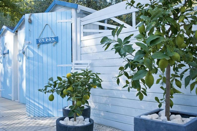 un esprit bord de mer pour la cabane du jardin leroy merlin. Black Bedroom Furniture Sets. Home Design Ideas