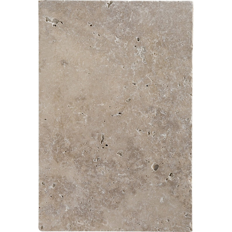 Travertin sol et mur beige effet pierre Travertin l.40.6 x L.61 cm ...