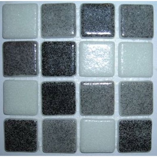 mosa que sol mix matisse pamplona noir gris et blanc leroy merlin. Black Bedroom Furniture Sets. Home Design Ideas