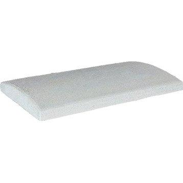 Couvre-mur béton arrondi H.5 x L.50 x P.28 cm