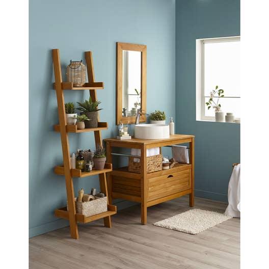 Meuble de salle de bains de 80 99 marron surabaya iv - Meuble de salle de bain en bois exotique ...