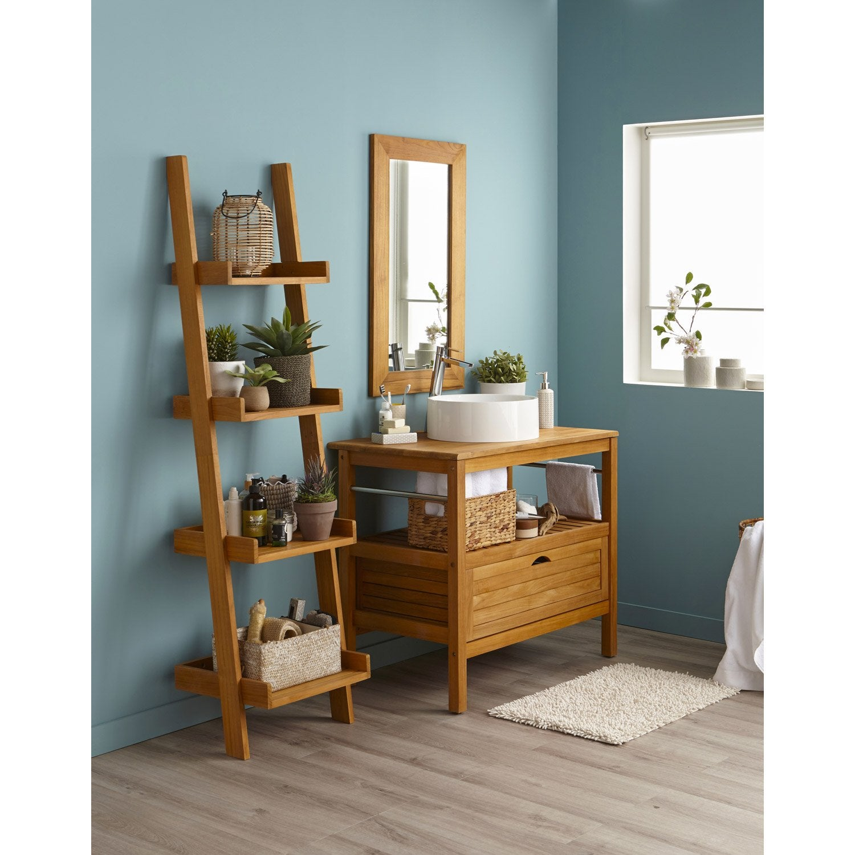 meuble salle de bain leroy merlin bois