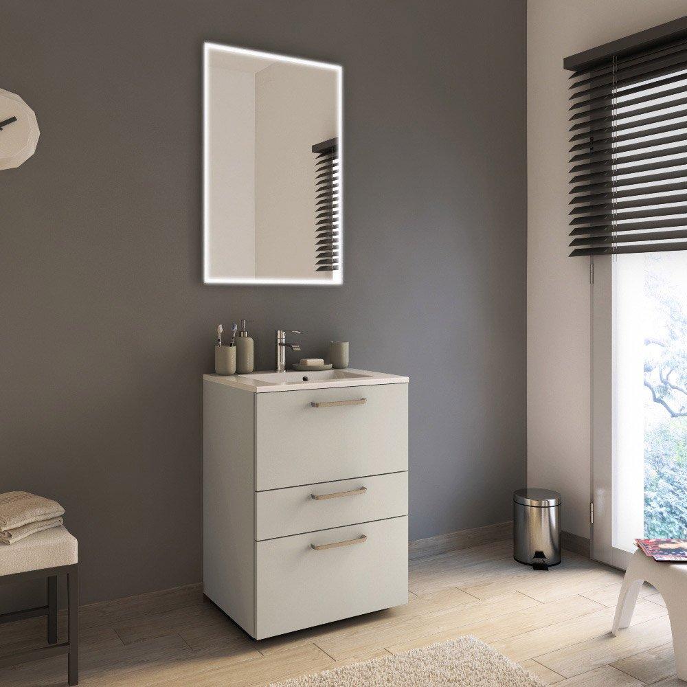 meuble de salle de bains de 60 à 79, beige, neo line | leroy merlin