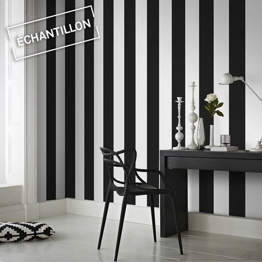 echantillon papier peint intiss rayure leroy merlin. Black Bedroom Furniture Sets. Home Design Ideas