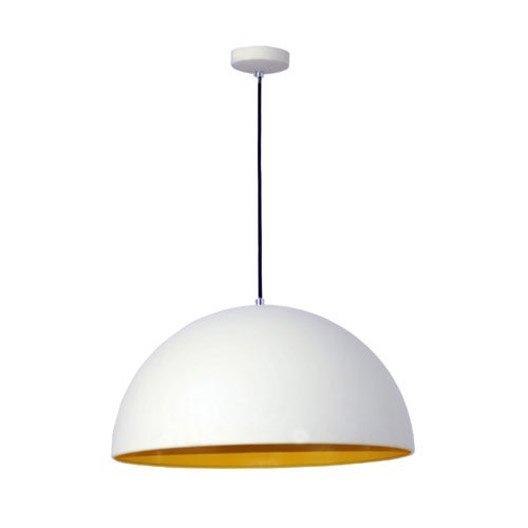 suspension moderne cedar m tal blanc et jaune 1 x 60 w. Black Bedroom Furniture Sets. Home Design Ideas