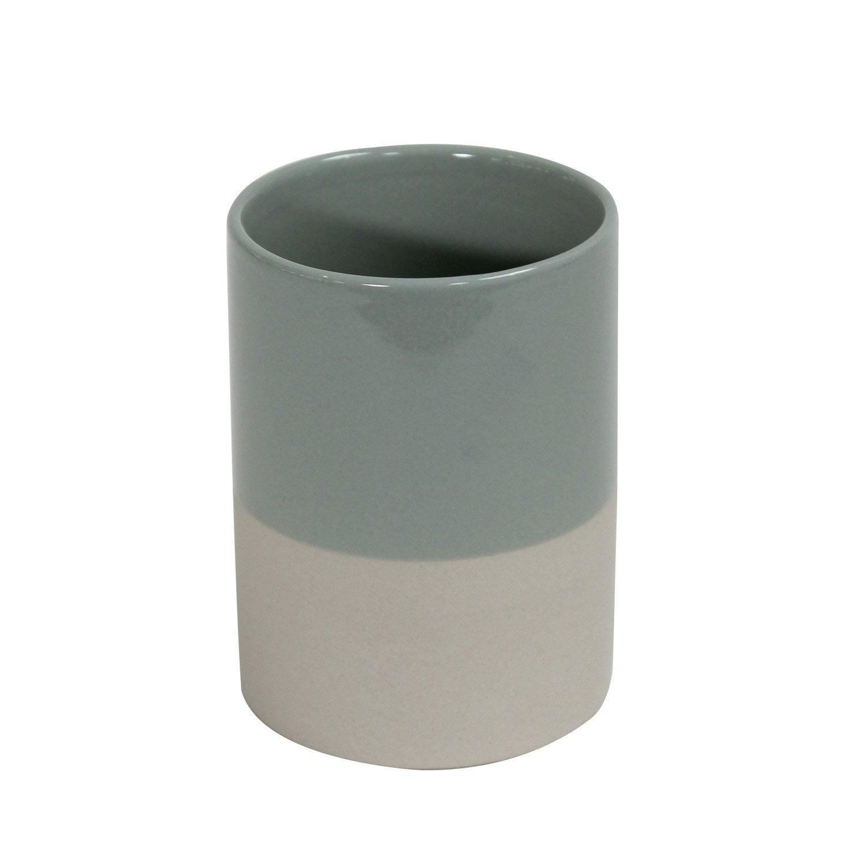 Gobelet céramique Tania, beige et vert