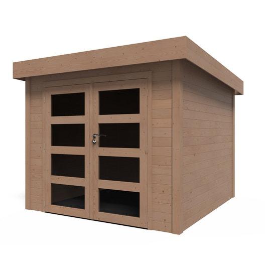 Abri de jardin bois Kuta évolution + traité autoclave, 5.96 m², Ep ...