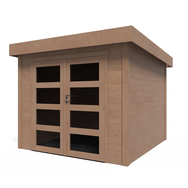 Abri de jardin bois Kuta Evolution+ traité autoclave, 5.96 m², Ep.28 mm