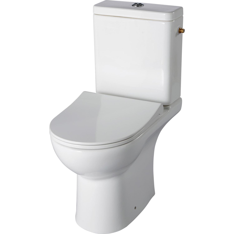 Pack WC à poser sortie horizontale, sans bride, SENSEA Modulo ... a97e998fb765
