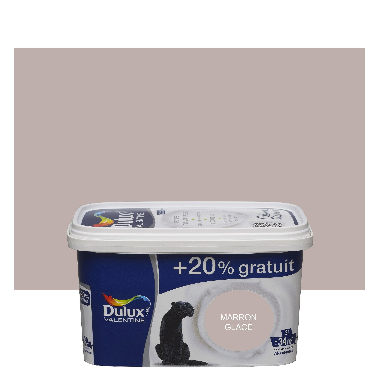 Peinture marron glacé satin DULUX VALENTINE Crème de couleur 3 l