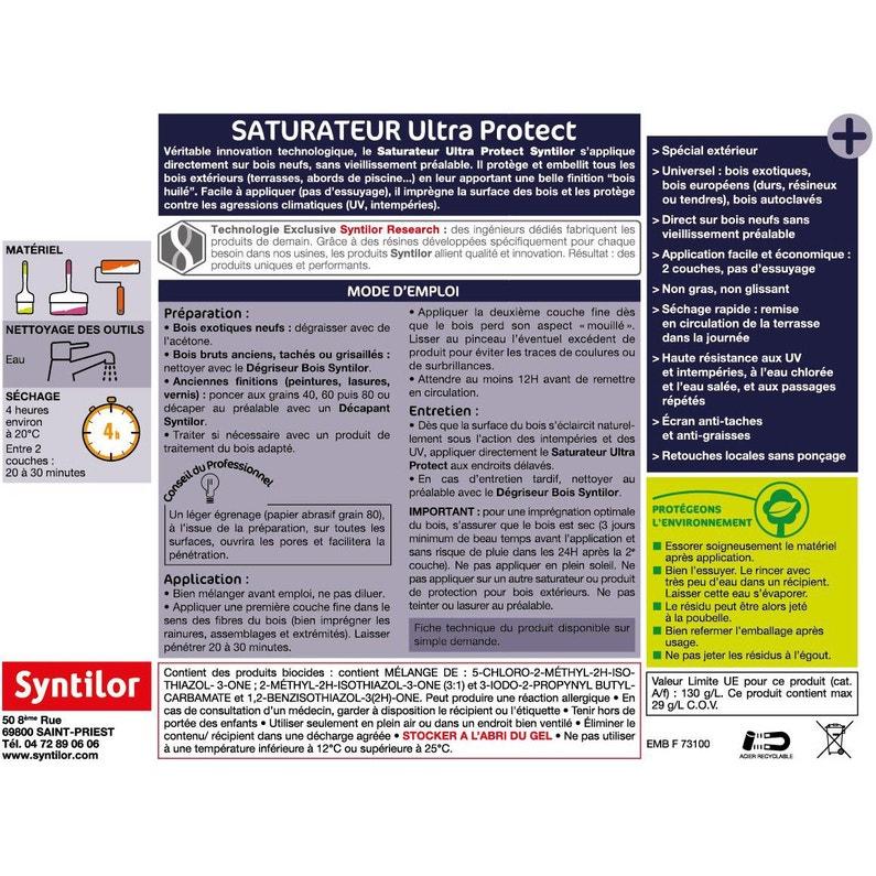 Saturateur Syntilor Protect Aqua Bois Clair 5 L