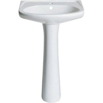 Colonne pour lavabo en céramique, blanc Futuna