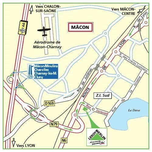 Plan d'accès au magasin Leroy Merlin de Thoiry