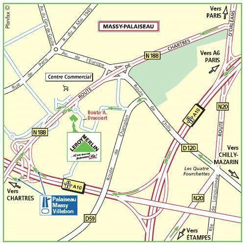 Plan d'accès au magasin Leroy Merlin de Paris daumesnil