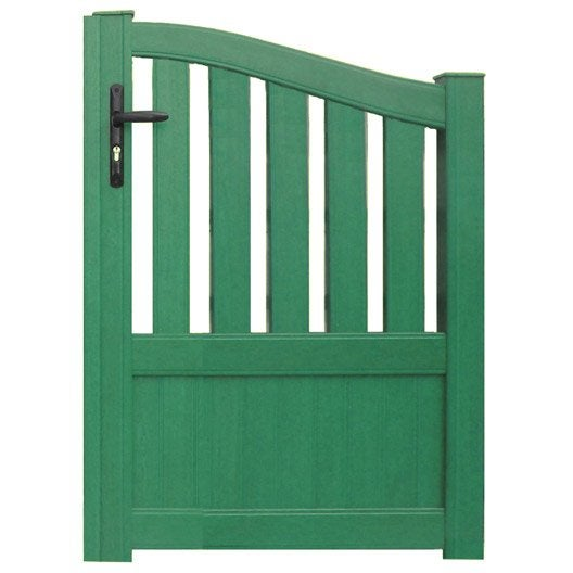 Portillon battant en aluminium moellan x cm for Portillon de jardin metal vert