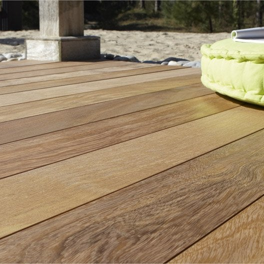 planche bois tali lantawi naturel x cm x mm leroy merlin. Black Bedroom Furniture Sets. Home Design Ideas