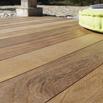 planche lantawi en bois tali naturel l 225 x l 14 5 cm x ep 21 mm. Black Bedroom Furniture Sets. Home Design Ideas