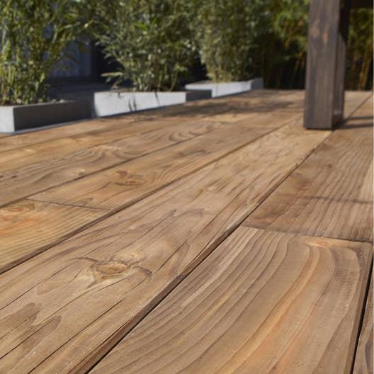 Planche bois douglas naterial marron x cm x for Planche bois massif leroy merlin