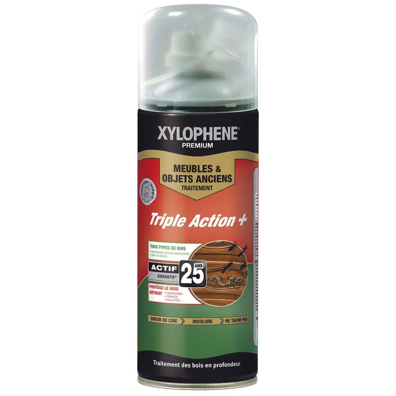 Traitement Du Bois Meuble Xylophene Premium 25 Ans 0 4 L Leroy  # Le Catalogue Des Meubles En Bois