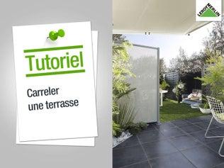 Réaliser une terrasse carrelée