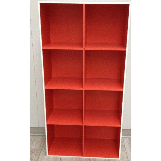 etag re 8 cases multikaz rouge l32 9 x h138 2 cm leroy merlin. Black Bedroom Furniture Sets. Home Design Ideas