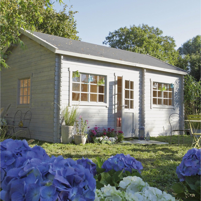 Abri de jardin bois Loksa, 18.9 m² Ep.44 mm | Leroy Merlin