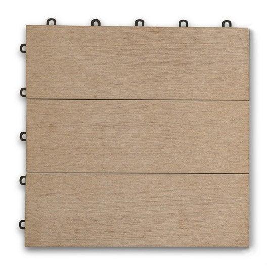 Dalle bois pour terrasse et jardin dalle et lame bois pour terrasse et jard - Dalle composite 50x50 clipsable ...