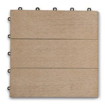 dalle clipsable resysta r cosse de riz et pvc l 30 cm x l 30 cm x ep 2 mm. Black Bedroom Furniture Sets. Home Design Ideas